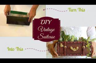 DIY Video Tutorial - Vintage Koffer aus Karton hergestellt