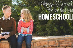 10 Dinge, die ich in unserem ersten Jahr des Homeschooling gelernt habe