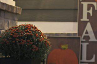 Unsere moderne Handwerker Veranda dekoriert für den Herbst
